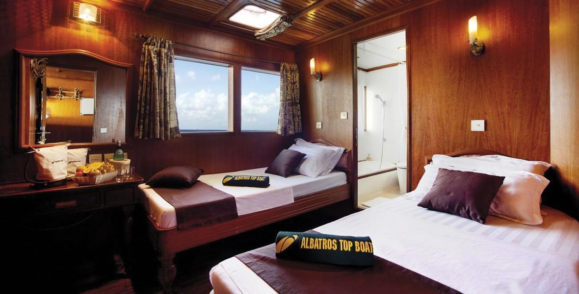 maldives croisiere plongee conte max cabine